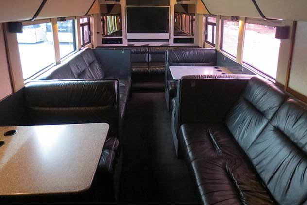 28 Passenger VIP Sleeper Motorcoach With Seats & Tables