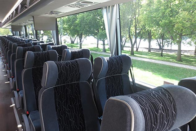 Seating in 56 Passenger Motorcoach