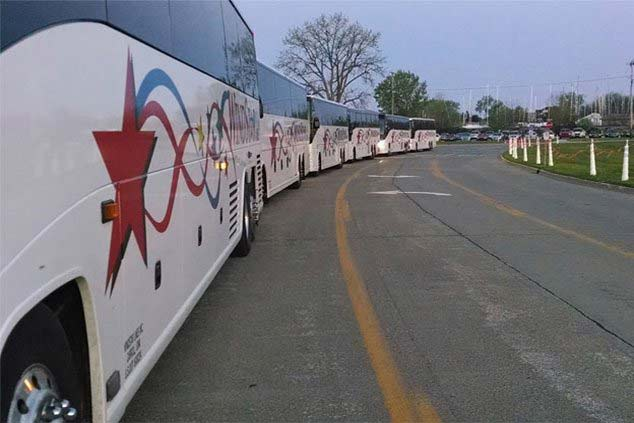 Bus Fleet to order from on bus rentals.