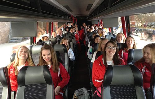 Windstar bus chartering athletic high school and college sports team.